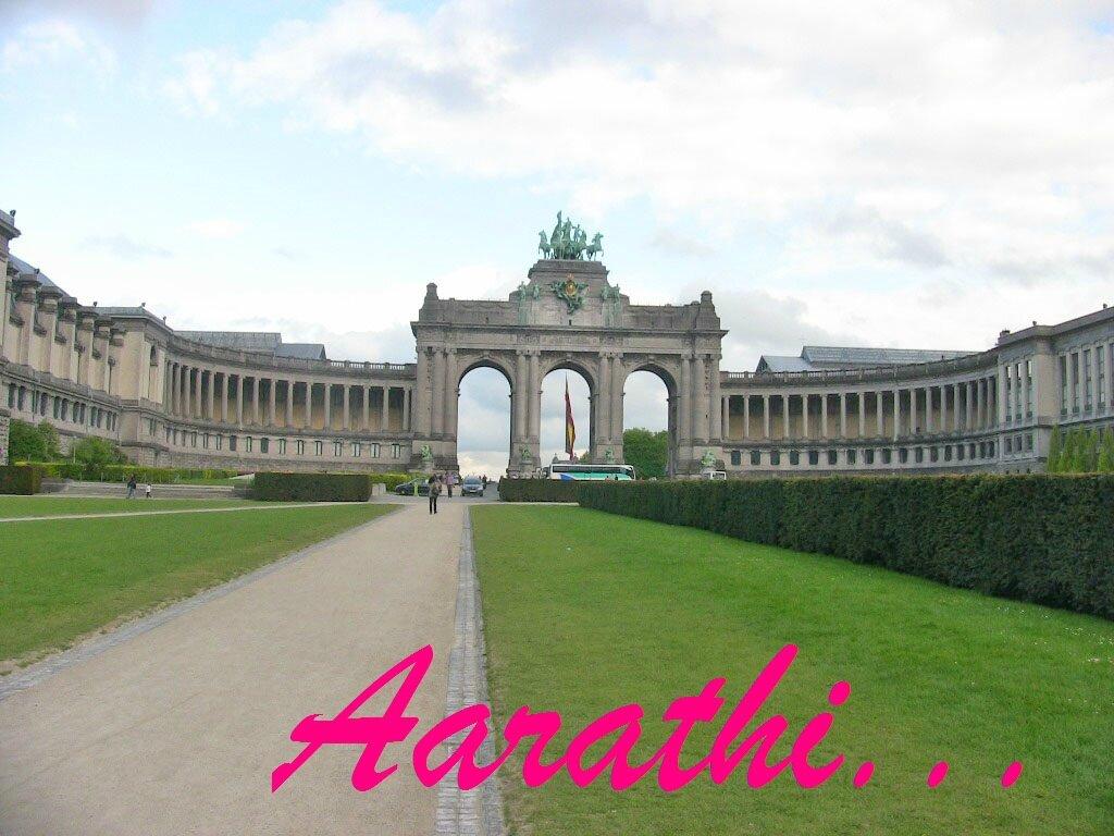 U shaped Triumphal Arch, Brussels.