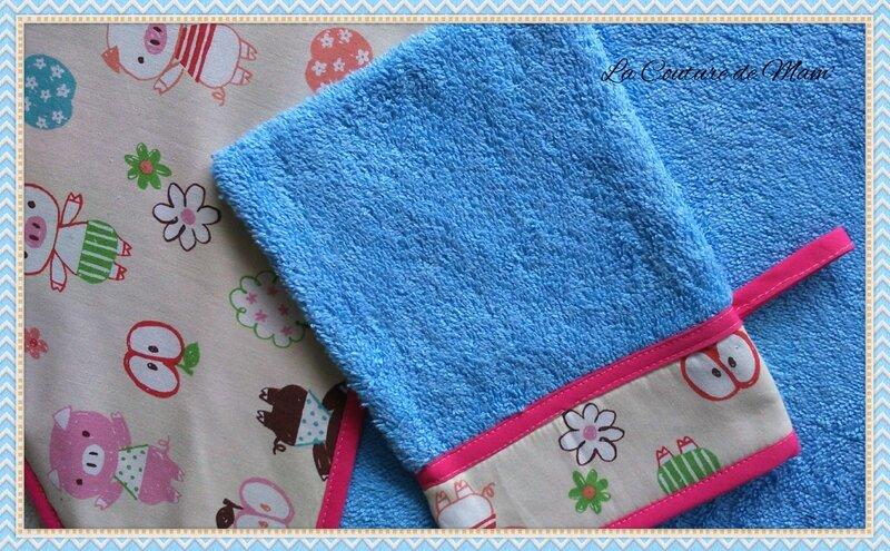 Sortie de bain bleue