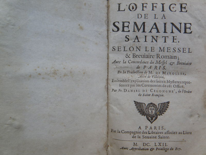 L'office de la semaine sainte.. 1673