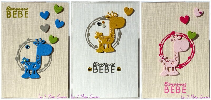 cartes de naissance avec girafe