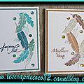 Cartes de vœux - plumes