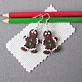 Boucles Ti-biscuit marron