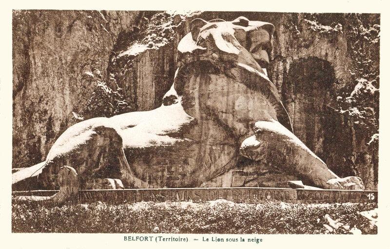 Belfort CPA Lion Neige 1923-30