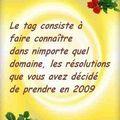 Mes bonnes résolutions pour l'année 2009