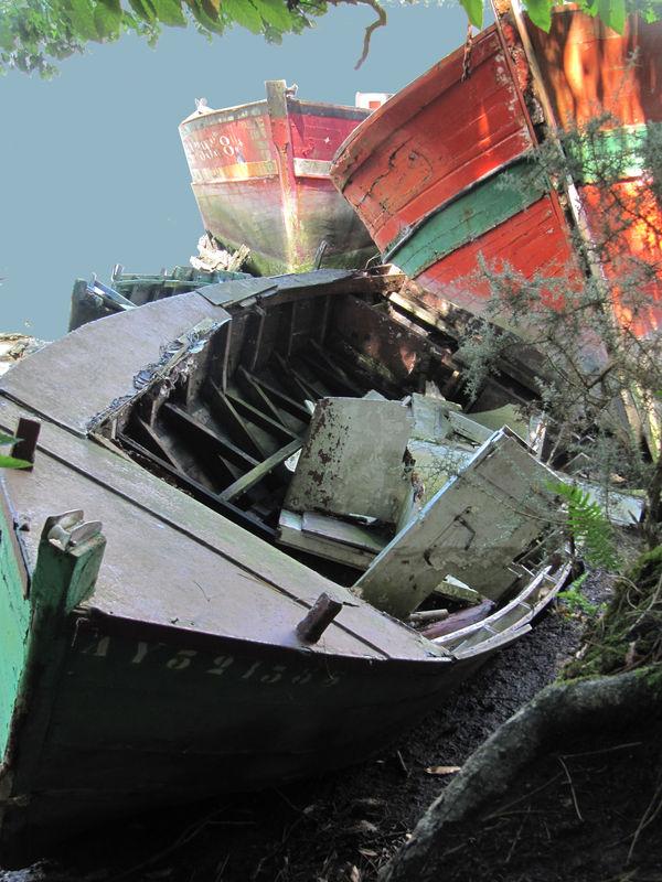 Cimetière de bateaux Epave Pluneret BONO