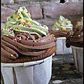 Cupcake noisette-thé matcha-chocolat