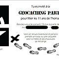 invitation géocaching