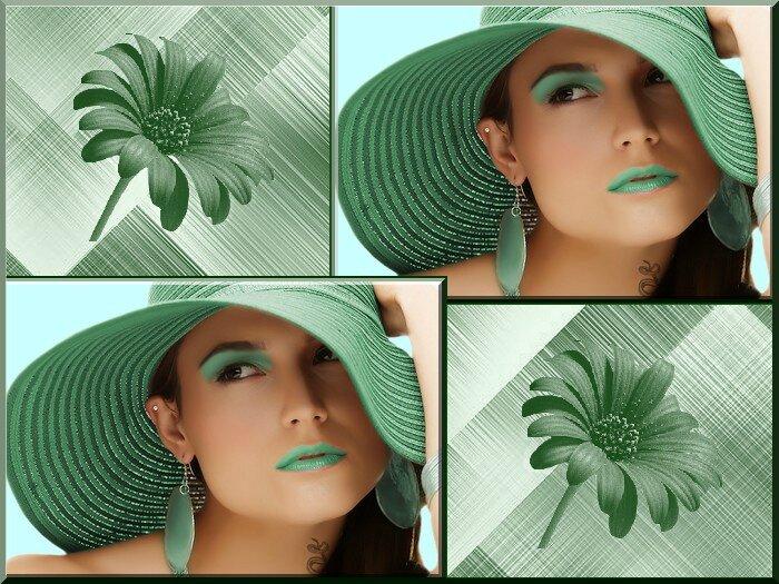 Cadre vert pale