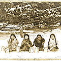 Une très vieille photo + la nourriture des amérindiens en hiver - very old photo + native winter food