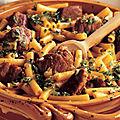 Ragoût de porc et macaronis à l'oranaise
