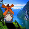 Horloge doudou moulin
