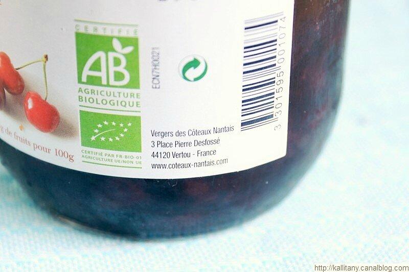 Confiture extra cerises bio Côteaux Nantais - Blog Kallitany (3)