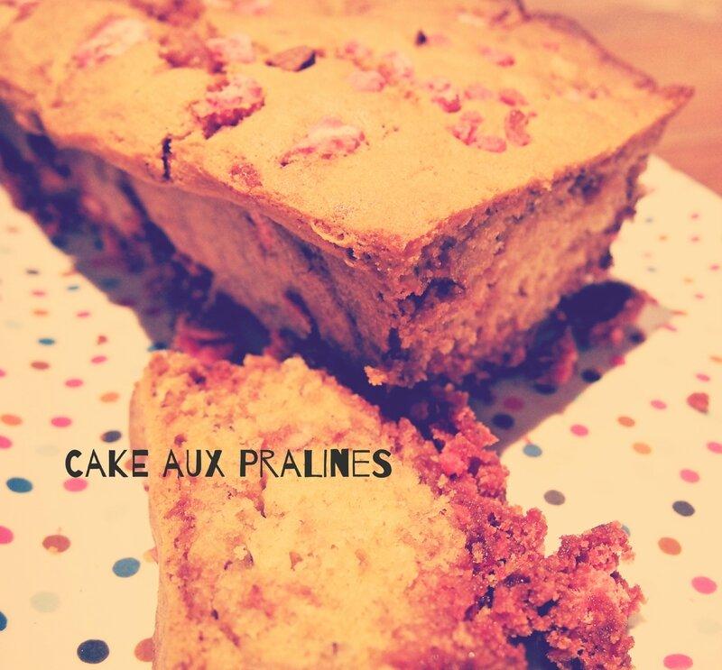 Cake aux pralines
