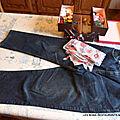 Atelier couture-un sac à dos avec un vieux jean