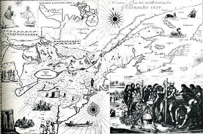 2 - Novae Franciae accurata delineatio , carte illustrée de 1657
