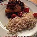 Filet de saumon au jus d'agrumes