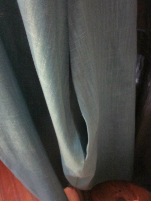 Robe EPONINE en lin bleu lagon (1)
