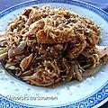 Nouilles chinoises au saumon