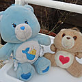 2 Bisounours Carebears vintage . Tenderheart bear & Ti'Coquin
