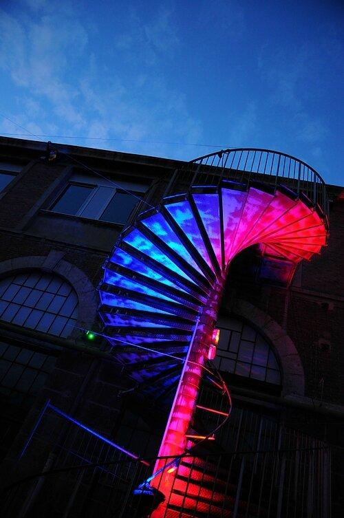 Escalier lumineux