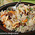 Biryani de riz aux légumes