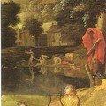 orphée et eurydice (détail) Poussin, vers 1650, Louvres