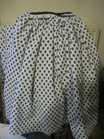 jupe à plis canons