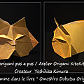 Origami animaux drôles -chat qui dort-