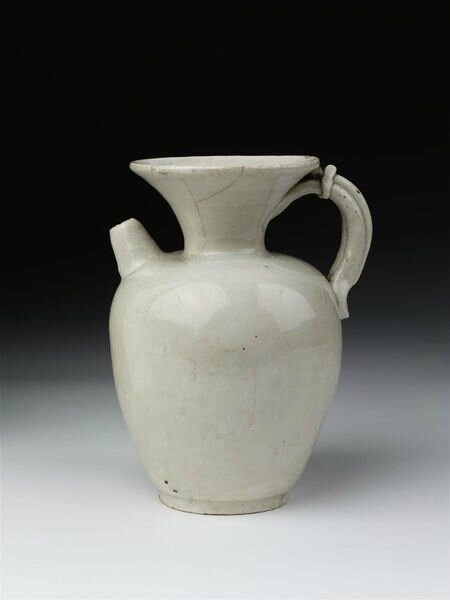 Ewer, white porcelain with white glaze, China, Tang dynasty (618-907), 850-906
