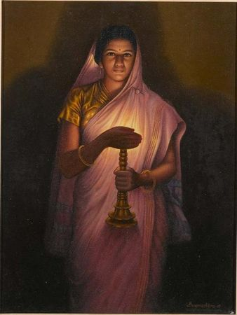 lady-with-the-lamp-ravi-verma