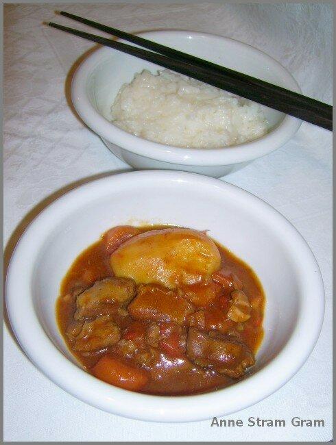 curry d 39 agneau japonais et son riz gluant anne stram gram. Black Bedroom Furniture Sets. Home Design Ideas