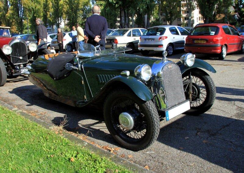 Morgan type F super three wheeler roadster (1936-1952)(Retrorencard octobre 2010) 01