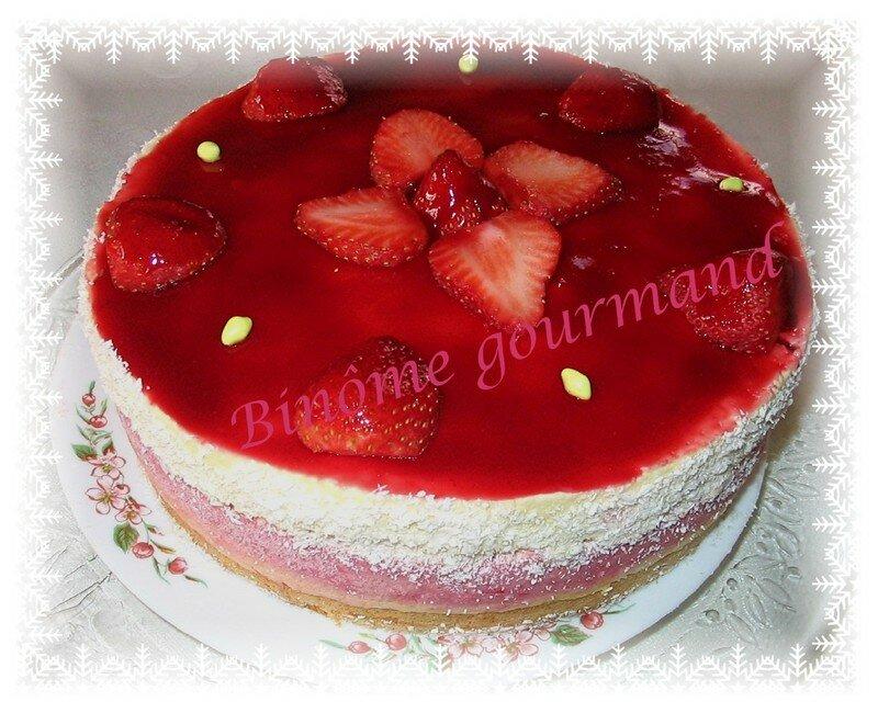 Entremet fraise