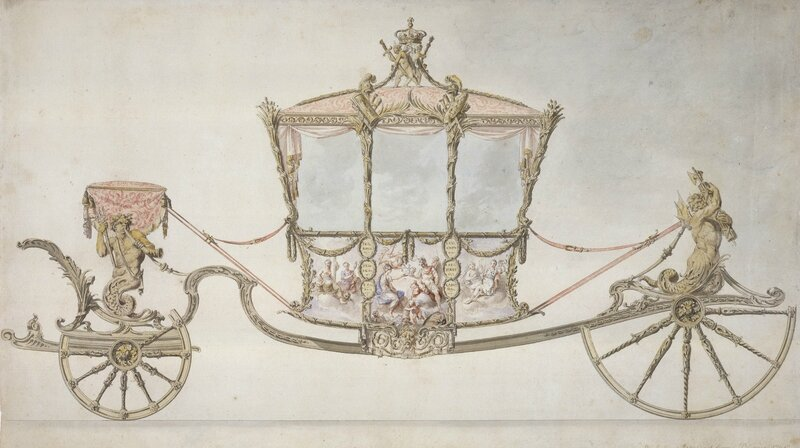 Sir William Chambers (1722-96), Design for the State Coach, 1760