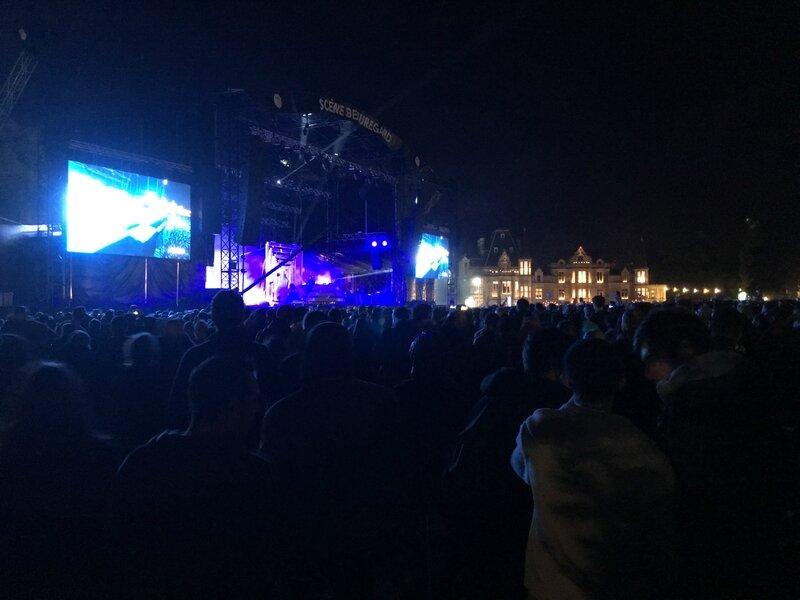 festival Beauregard 2016 chateau scène nuit