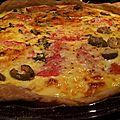 Quiche tomate-olive-basilic.