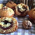 Muffins aux noix et à la confiture de figues