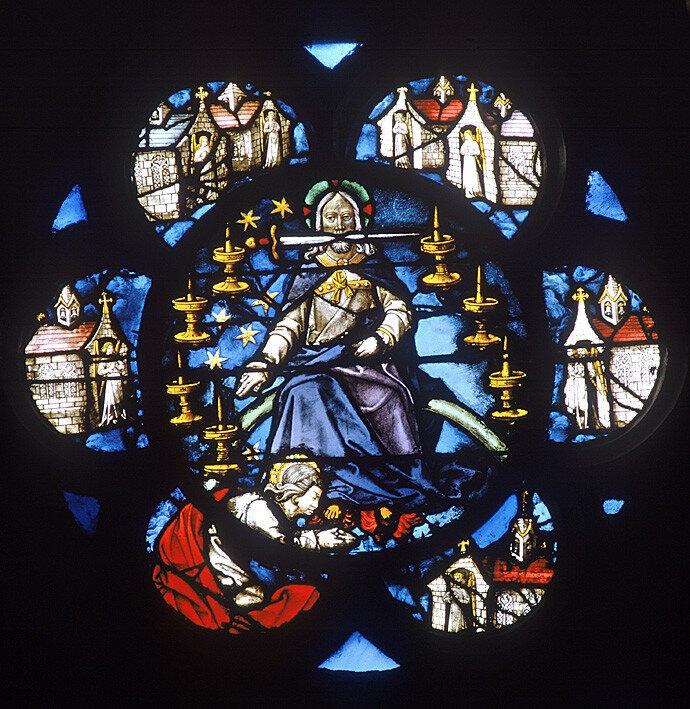 Apocalypse, épée du verbe divin, la Ste Chapelle, Paris