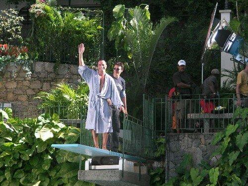 OSS et Michel sur un plongeoir