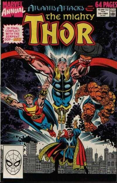 mighty thor 1966 annual 14 1989 atlantis attacks