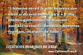 Citation Donatien de Sade