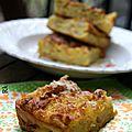 Pudding aux pommes caramélisées (et à la boisson amandes/caramel salé bjorg) contre la morosité