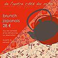 Brunch japonais a partir du samedi 13 juin 2015