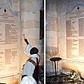 Les noms des martyrs des sables gravés dans la pierre