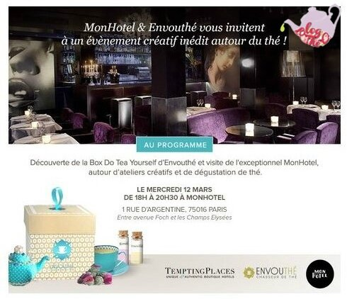 Invitation EnvouThé Mon Hotel Box Do It Yourself