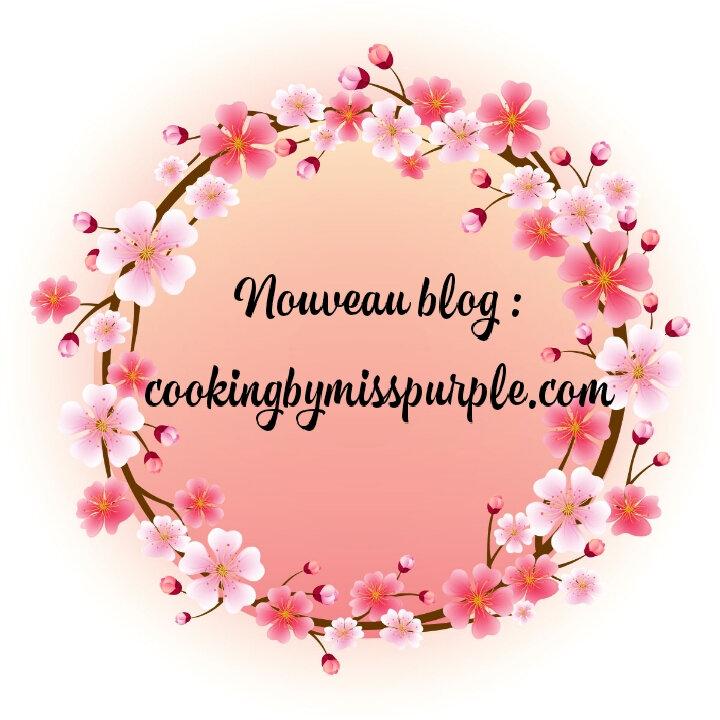Nouveau blog : cookingbymisspurple.com