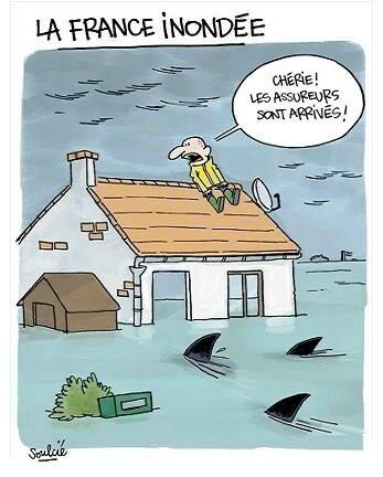 humour innondation assureur