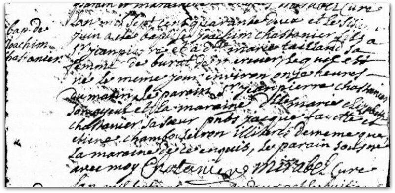 CHASTAGNIER DE BURAC baptême z