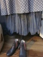 Robe GILBERTE en coton gris à pois blancs (10)