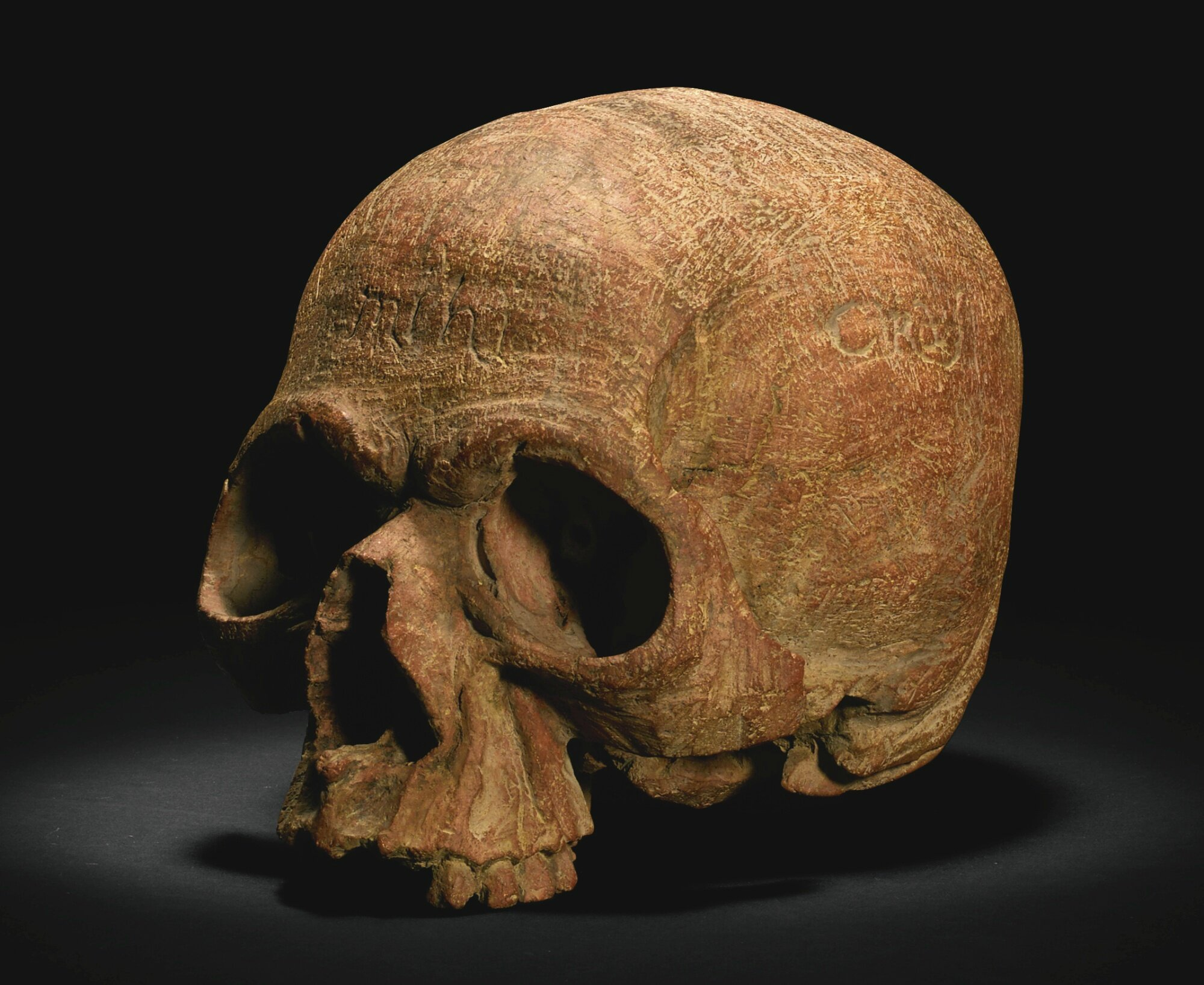 Netherlandish or Italian, probably 17th century, Memento mori skull